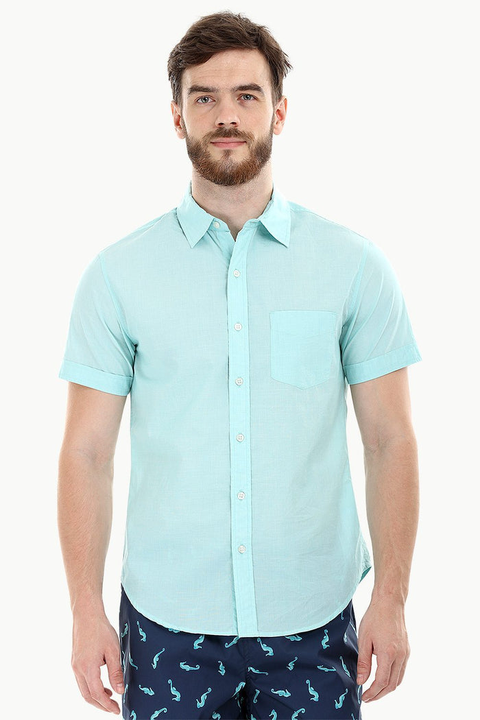 Mint Green Oxford Lightweight Shirt