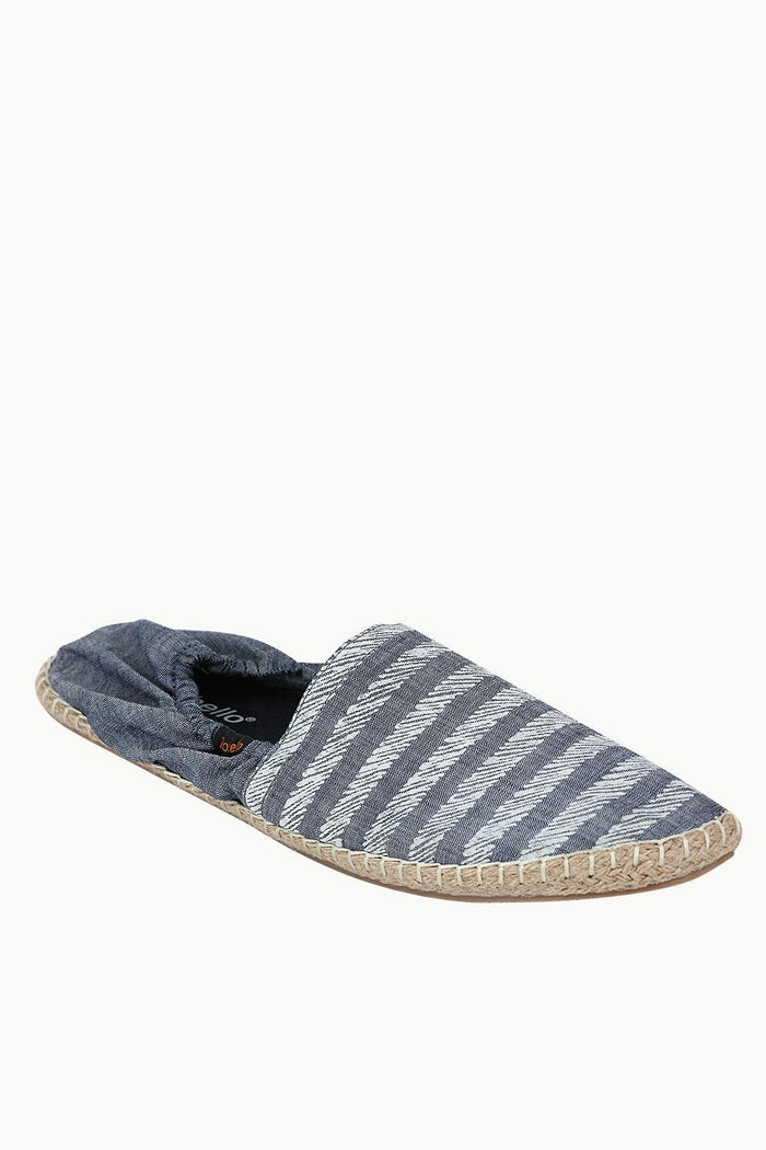 Denim Blue Striped Espadrilles