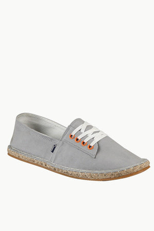 Mock Lace Up Grey Espadrilles