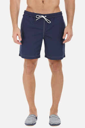 Bright Hue Voyage Swim Shorts With Elastic Waistband