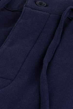 Navy Brushed Knit Pyjamas