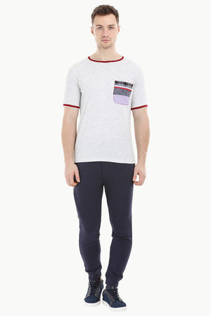 Oatmeal Contrast Pocket T-Shirt