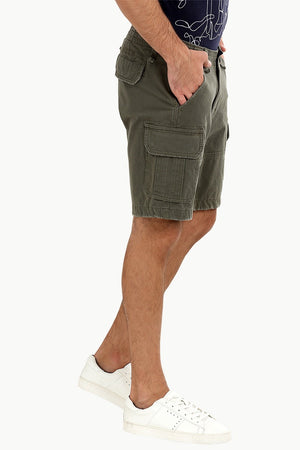 Olive Green Rugged Cargo Shorts