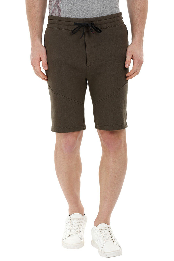 Olive Knitted Workout Shorts