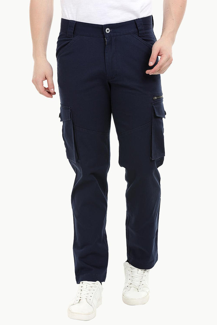 Men's Navy 7 Pocket Twill Cargo Pants