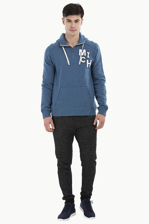 Embroidered Popover Zip Hoodie