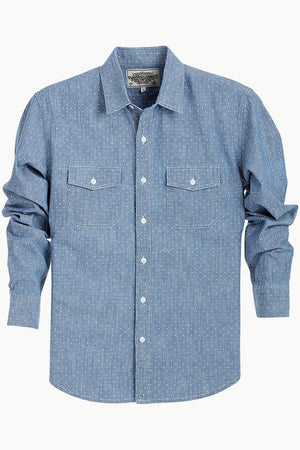 Cotton Chambray Printed Shirt