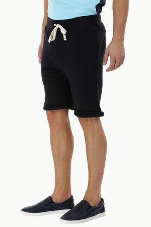 Solid Rolled Up Hem Shorts