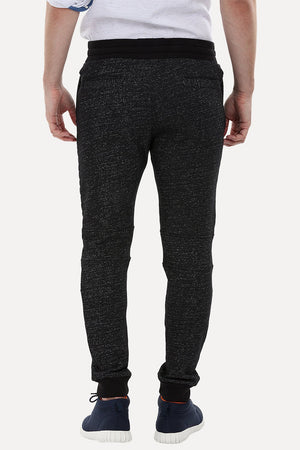 Quilted Knee-Patch Joggers