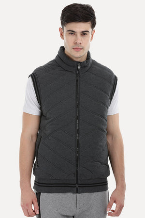 Quilted Varsity Knit Jacket