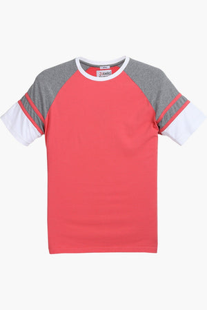 Raglan Cut & Sew Cotton T-Shirt