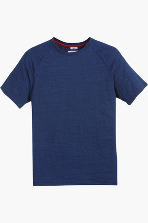 Raglan Indigo Cotton T-Shirt