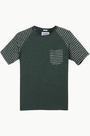 Raglan Sleeves Green T-Shirt