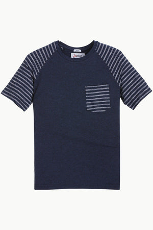 Raglan Sleeves Navy T-Shirt