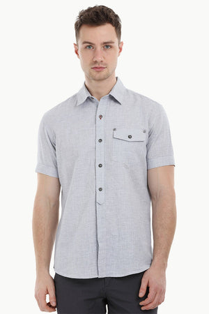 Semi Concealed Placket Shirt