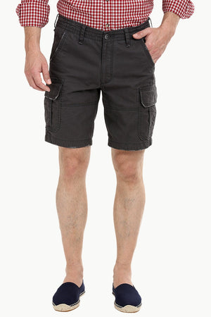 Shadow Grey Rugged Cargo Shorts