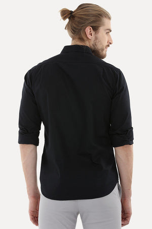 Shirt with Box Pleated Flap Pockets