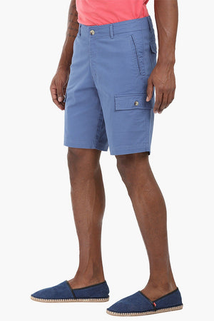 Cotton Shorts with Flap Pockets
