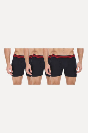 Solid Stretchable Brief With Side Fly- Pack Of 3