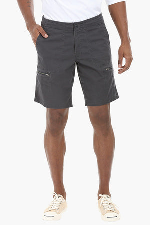 Side Zipper Cotton Shorts