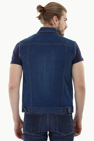 Sleeveless Trucker Denim Jacket