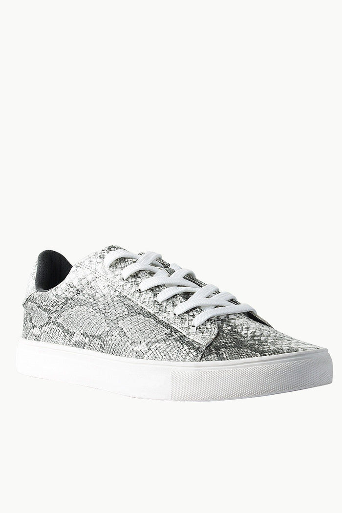 Snake Skin Faux Leather Plimsolls