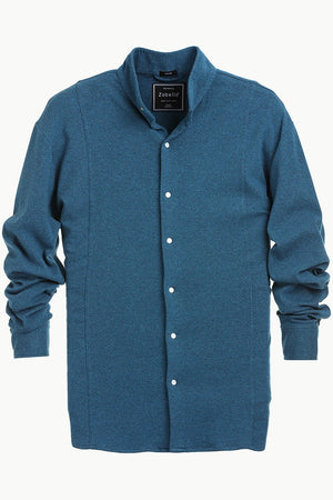 Mens Snap Button Knit Sky Blue Shirt