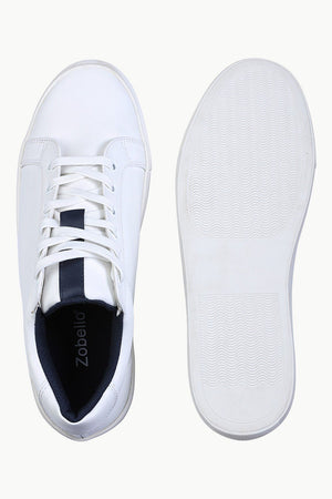 Solid Faux Leather Plimsolls