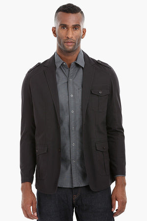Solid Safari Cotton Blazer