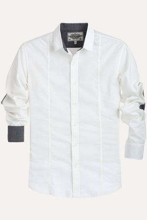 Solid Shirt with Elbow Patches