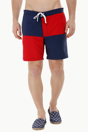 Square Colorblock Swim Shorts