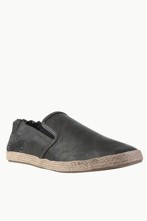 Stretchable Faux Leather Espadrilles