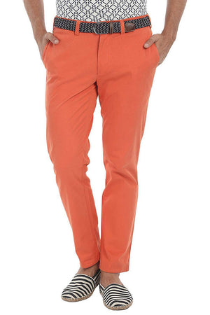 Stretchable Washed Cotton Peach Twill Chino Pants