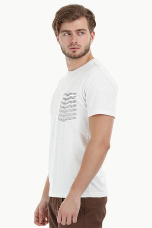 Stripe Block White T-Shirt