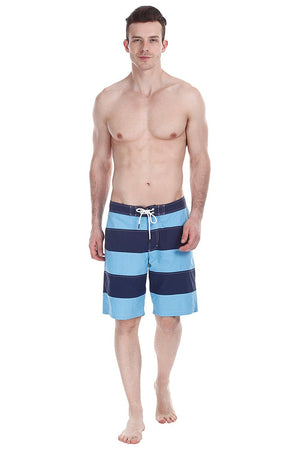 Twin Color Block Stripe Nylon Swim Shorts