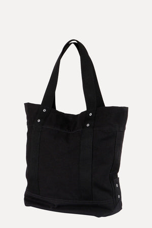 Throw In Black Canvas Tote Bag