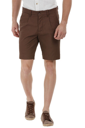 Twill Brown Chino Shorts