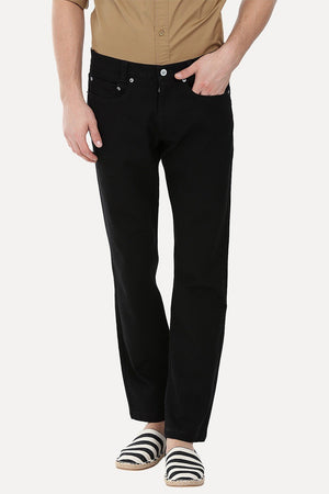 Enzyme Washed Black Slim Fit Pant
