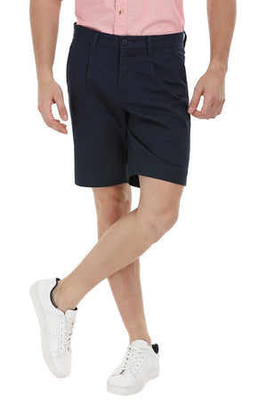 Twill Navy Chino Shorts