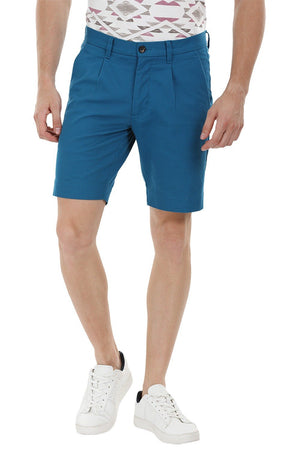 Twill Turquoise Chino Shorts