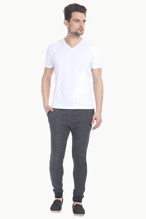 V Neck Slight Stretch Solid T- Shirt