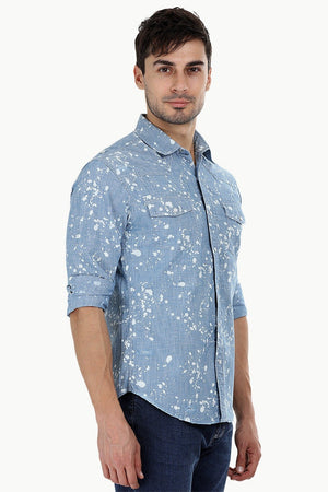 Washed Splatter Paint Shirt