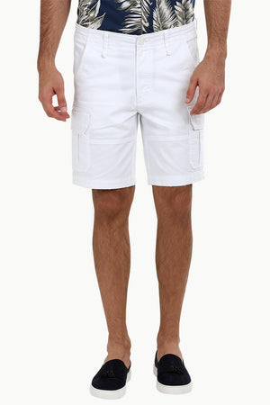 White Rugged Cargo Shorts