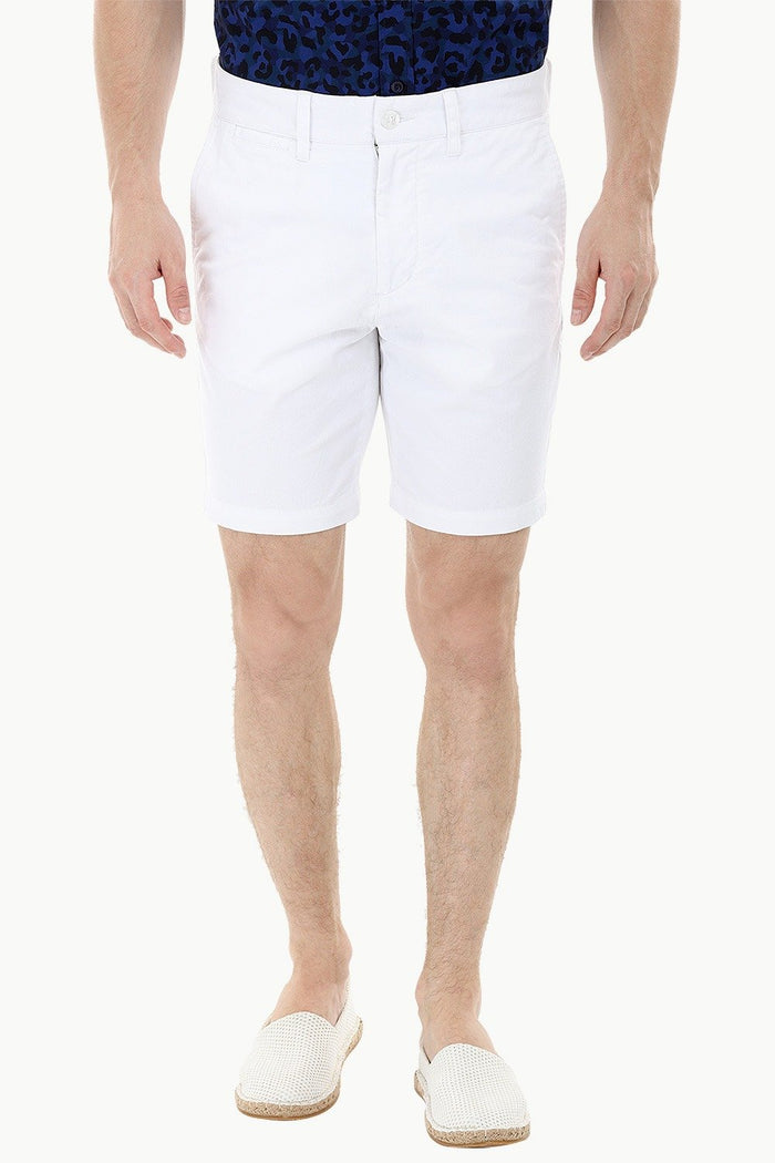White Twill Summer Chino Shorts