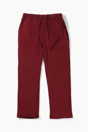 Wine Red Knit Brushed Pyjamas