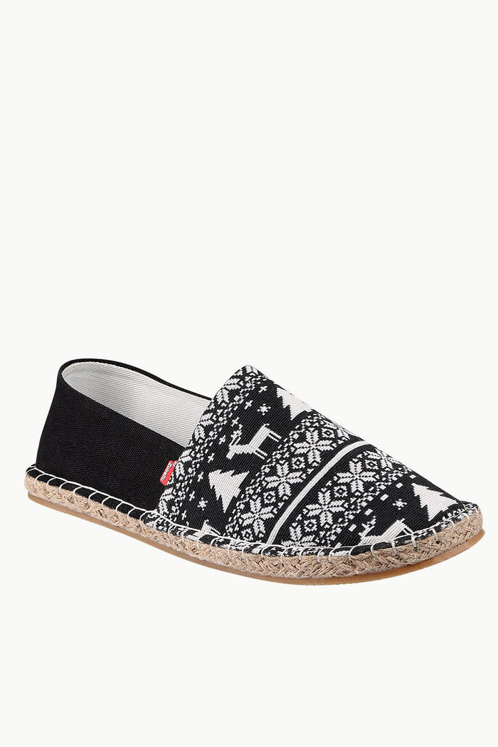 Woven Holiday Pattern Espadrilles