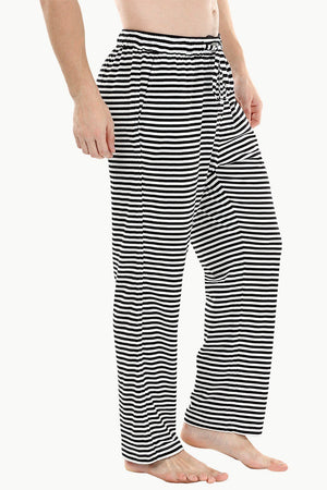 Zebra stripe knit brushed pyjamas
