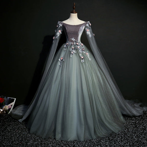 90ec2024e8ca 100% real dark grey 18th century coronation cosplay ball gown medieval dress  Renaissance gown queen Victorian Belle Ball gown 100% real dark grey 18th  ...