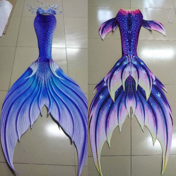 b01e59b77a1b5 3PCS Fashion Girls Swimming mermaid tails for Children Big Tail Kids Adult  Women Mermaid Tail With Monofin Halloween Costumes 3PCS Fashion Girls  Swimming ...
