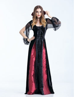 S-XL 2018 New Medieval Renaissance Adult Gothic Vampire Outfit The Queen  Vampire Costume Halloween Women Cosplay Fancy Dress S-XL 2018 New Medieval  ... c9d20e9ab036